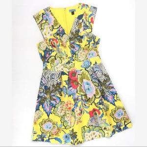 Cynthia Rowley Retro Floral Watercolor Dress